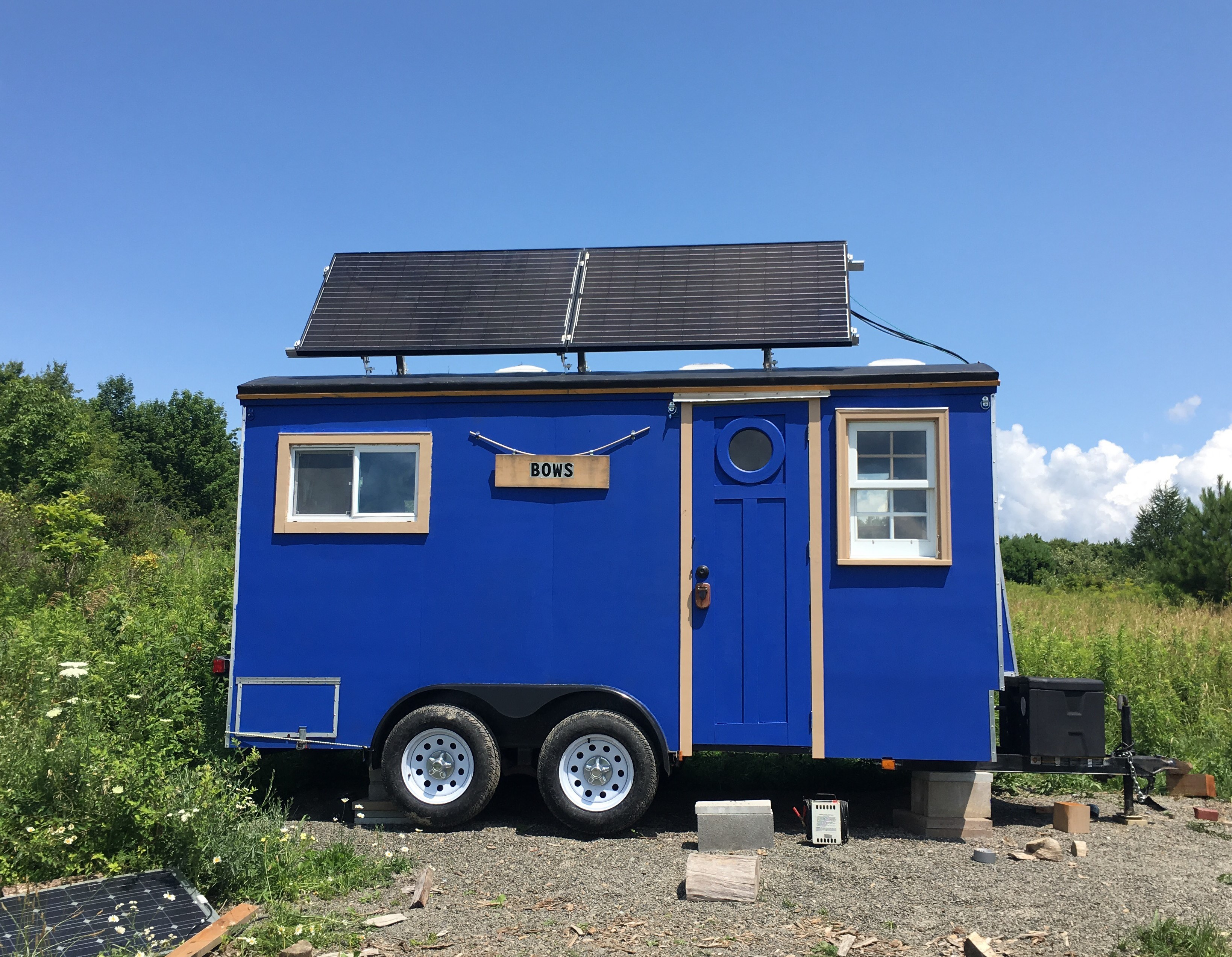 2 module, off-grid tiny house