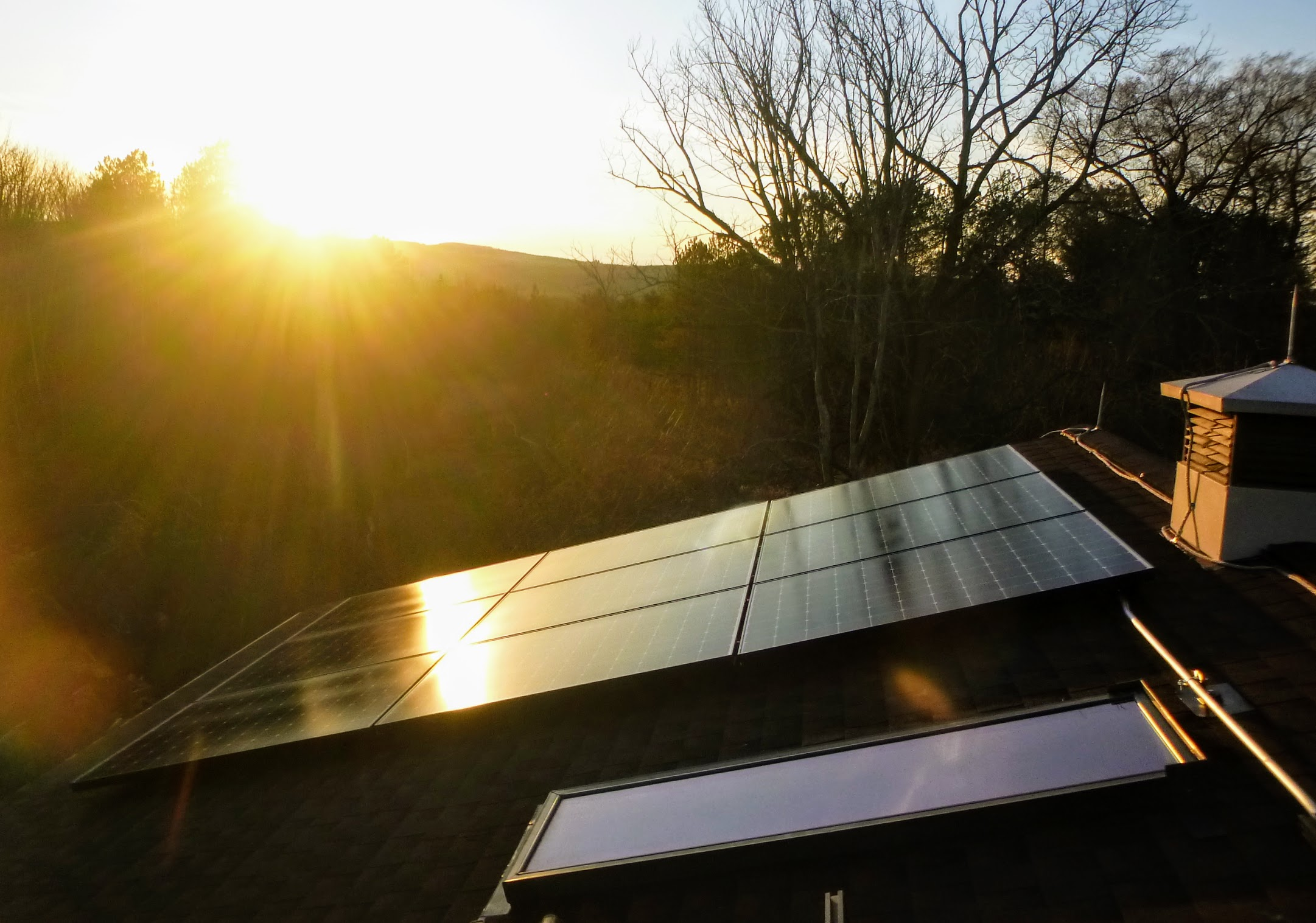 10 kw roof mount - sunset view 2